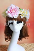 Hawaiian Flowers Wreaths For Hair/Artificial Flowers Garland Headband/Party Head Wreath/Wreath head/Festive Graduation Garland