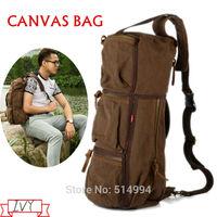 2014 New Arrival! men women canvas bag,school outdoor travel messenger bags, Satchel Versipacks with genuine leather