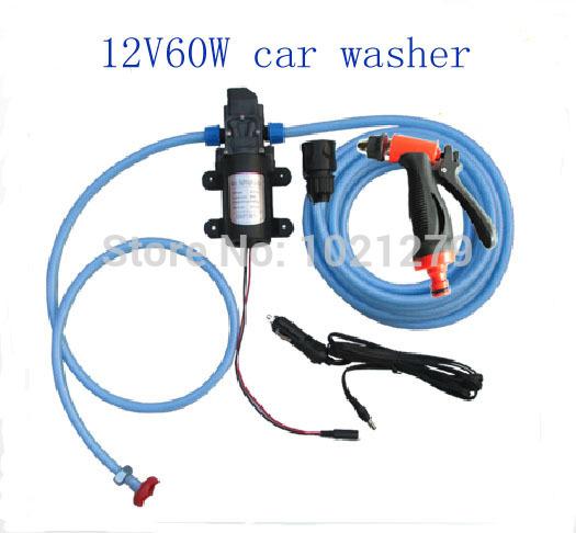 Brand new Car electric 60w high pressure car washer portable high pressure car wash pump 12v trainborn 880102(China (Mainland))