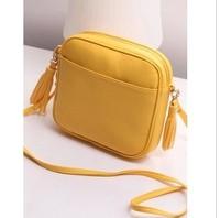 new 2014 brand design Korean casual fringed handbags women Messenger bags PU Leather handbags lovely Tassel bag