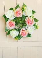 Wedding Flowers Wreaths Artificial Flowers Garland /Party Wreath/Door Wreath/Festive Party Rose Decorative Flowers Wreaths