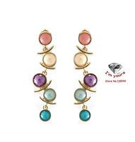 ED17  Accessories wholesale SUMNI texture color quietly elegant long earrings 2pcs/lot