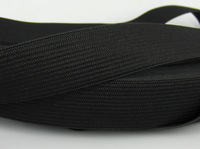 "Free Shipping 12yard Wide 3/4"" (20.0mm) Black Soft Knitted Braided Elastic"