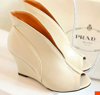 Sexy open toe pu leather 8.5CM high heels shoes woman sandals EU 34-39