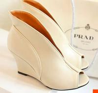 Sexy open toe pu leather 8.5CM high heels shoes woman sandals EU 34-39