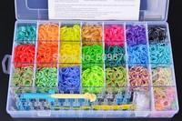 Colorful Loom Bands set Fun Loom Rubber Kit DIY Bracelets Children Toy Gift For Charm Bracelet Bangle
