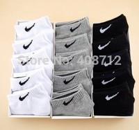 2014 Great Quality Fashion Men's Socks 10 pcs = 5 pairs Cotton Blends Men's Sport Ankle Short Socks For women W001
