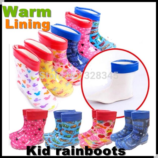Enfants bottes de pluie bottes en caoutchouc enfants garçons et les