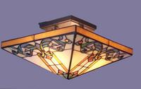 Morocco style square ceiling lamp half children Tiffany bedroom study ancient European retro lamps
