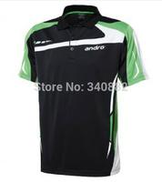 Original Andro T-shirts HEMD-AGUS table tennis Andro table tennis uniform upper garment sportswear uniform indoor sports
