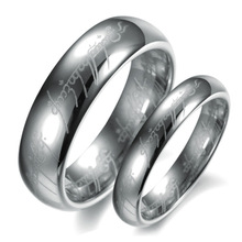 Romantic Alentine's day gift Noble o Ring o top quality silver The Lord of the Rings tungsten steel never fade Couples rings L31