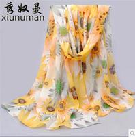 cachecol Plus plush chiffon scarves scarves Korean female spring and autumn scarf