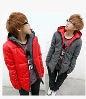In 2014, young fashion clothing, hooded fashion thick warm cotton jacket, free delivery