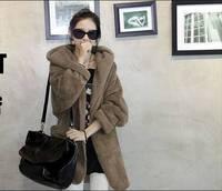 Free Shipping 2014 Korea Style Women Hoodies Warm Outerwear Casual Thick Sweatshirts Winter women Hooded Thick plush Coat J005