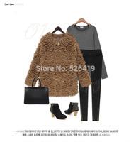 Free Shipping 2014 Korea Style Women Hoodies Warm Outerwear Casual Thick Sweatshirts Winter women Hooded Thick Fur coatt J010