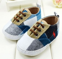 baby first walkers shoes kids shoes plaid canvas 10.5cm 11cm 11.5cm