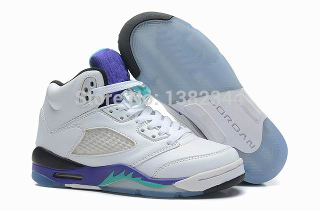 Retro 5 Grapes Black White Retro 5 Kids White/grapes