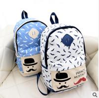 2014 new women backpack  Campus Girls Nylon Cute Cartoon Printing Backpacks Student School Book Leisure Shoulder Bags bolsas