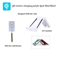 Portable 3 Coils Qi Wireless Charger Sets Wireless Charging Mat + Wireless Charger Receiver for 7.9inch iPad Mini/Ipad Mini2