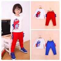 Children Boys Dinosaur Top/ Lightweight Long Sleeve Shirt + Pants Outfit Sports Set Age 2-6Years