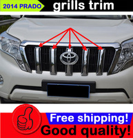 Free shipping ABS chrome grills trim for FJ150 2700 PRADO 2014