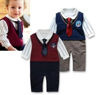 Spring children's clothing factory outlets shall infant nissen gentleman tie Romper climbing clothes leotard c211