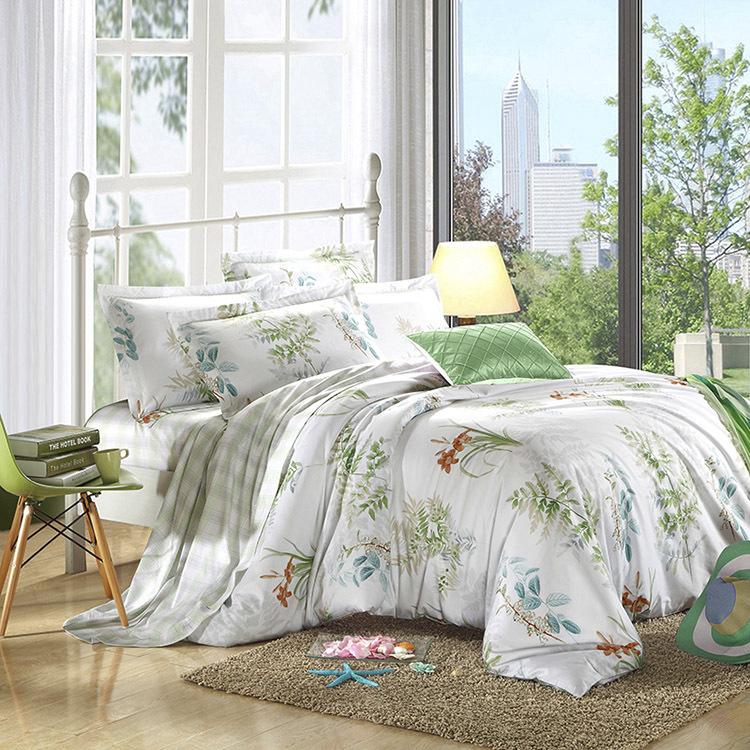 Nordic IKEA pastoral simplicity Egyptian cotton satin cotton denim 60 cotton textile bedding(China (Mainland))