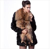 2014 winter long section thick luxurious  mink collar women fur coat -G044