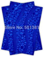 1set/lot, African Sego Headtie Gele & Ipele 2in1, D/N 193 Royal blue