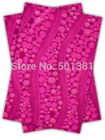 1set/lot, African Sego Headtie Gele & Ipele 2in1, D/N 193 Fushia pink
