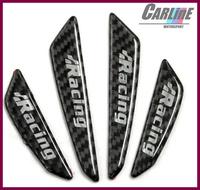 40pcs MIX 100% real carbon fiber anti-bumping car door crashworthy bar Bumper sticker door protector  for vw abt racing