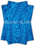 1set/lot, African Sego Headtie Gele & Ipele 2in1, D/N 193 Turquoise blue