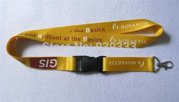 Premium heavy duty nylon neck lanyards, custom nylon id badge straps with screen printed logo, quality nylon lanyard cheap price(China (Mainland))