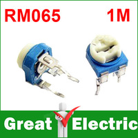 500PCS/Lot Trimmer Potentiometer RM065  1m 105 Variable adjustable Resistors  Free Shipping  #RM105