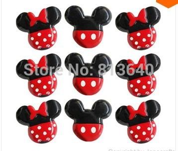 Atacado 50 pc mista Mickey / Minnie Mouse resina Flatbacks apartamento de volta Scrapbooking arco de cabelo centro de artesanato fazer(China (Mainland))