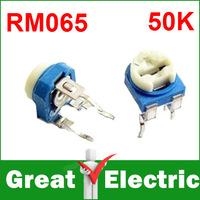 500PCS/Lot Trimmer Potentiometer RM065  50K  503 Variable adjustable Resistors  Free Shipping  #RM503