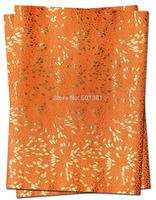1set/lot, African Sego Headtie Gele & Ipele 2in1, D/N 189 Orange