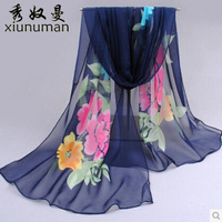 cachecol Korean chiffon scarves scarves Ms. Long thin summer scarf