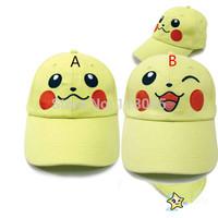 10 PCS/LOT Pocket Monster pokemon pikachu caps sun hats toys free shipping