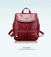2014 Fashion new vintage women leather backpack brand female rucksack women's school bags