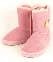 2014 good quality new free shipping  children's boots winter  kids SNOW boots  5991 button  short boots