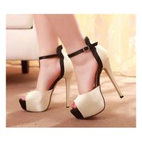 Hot Sale Fashion 2015 Womens High Heels Peep Toe Womens Pumps Stilettos Platform Sexy Ladies Party Shoes Wholesales