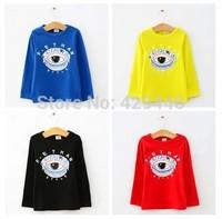 Boys girls long sleeve tshirt cartoon eyes 2014 autumn children clothing kids t shirt baby long sleeve tees top shirt