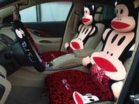 fashion leopard print Car seat covers set cute lovely monkey cartoon auto seats cover set