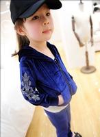 2012 Wholesale Children's swan velvet suit 2 pcs set