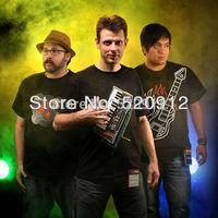 Wholesale 50pcs Playable Electronic Music Band T-Shirt Kits Guitar+drum tshirt free shipping