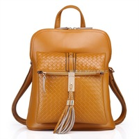 New Women's Backpack Fashion Genuine Leather Ladies Shoulder Bag Casual Cowhide Tassel Bag 5 colors