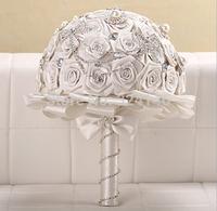 2014 New Arrival Gorgeous white rose wedding bouquets bride bouquet bridal ball-flower accessories valentine's day D205