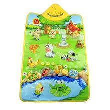esencial 2014 creativo nuevo sonido de la música animales de granja bebé niños jugar gimnasio juguete tapete jugar alfombra alfombras(China (Mainland))