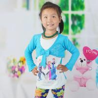 2014 New False Two Piece Girl Frozen Tshirts  Children Frozen Clothing for Girls Cotton Hoody 2-5T 1pc Free shippingTYT-1439